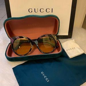 Authentic Gucci Yellow Cat Eye sunglasses